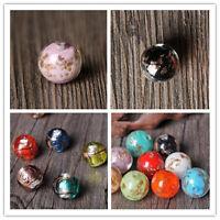 Fashion Round Sprinkle color European Lampwork Glass DIY Bead fit Charm Bracelet