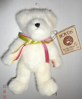 "Boyds Bears Head Bean Collection 8"" White Bear with tags"