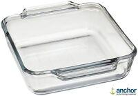 Anchor Hocking 81934 Glass Square Deep Baking Dish Oven Tray Roasting Dish