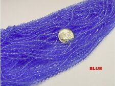 1 BUNDLE BLUE 4MM BI-CONE GLASS BEADS (48-50 STRANDS BUNDLE)