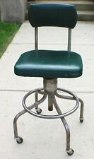 Vintage Industrial Drafting Stool Dependable Mfg. Co. c. 1960's Steam punk