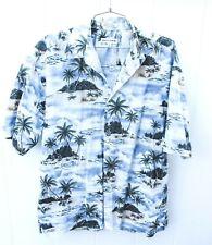 VTG Pierre Cardin  Camp Tropical Hawaiian Shirt Deserted Island Mens L Mint NWOT