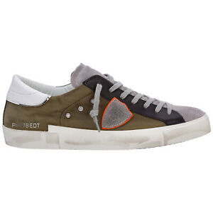 Philippe Model sneakers men prsx A11EPRLUXW03 West - Militaire leather shoes