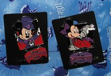 Disney Pin Mickey Minnie Mouse Halloween 2001 Dangle Carded Rare