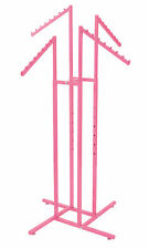 Hot Pink 4 Way Slanted Arm Clothing Rack