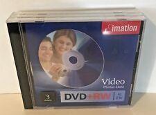 Imation DVD + RW Video 3 Discs 4 x 2 Hours