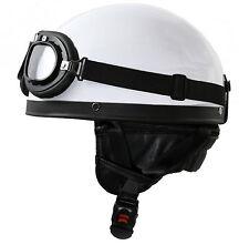 Motorrad Helm + Brille für NSU Dnepr Ural Molotov M72 K750 Gespann XS S M L XL