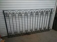 Scrolled type Wrought iron Juliet Balcony 1500 x 1100  Galvanised  powder coated