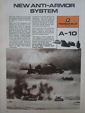 6//1974 PUB FAIRCHILD A-10 USAF GAU-8 30MM LEVELS COMBAT DAMAGE REPAIR AD