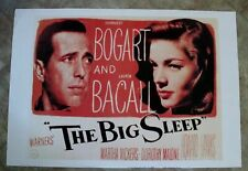 Big Sleep 1980s Humphrey Bogart Bacall Brackett Hawks Faulkner Chandler Poster
