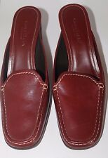 "Cole Haan 9B Women's Mules Red 2-3/4"" Heel Shoes Slides Dressy Casual Comfort"