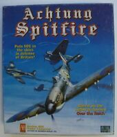 ACHTUNG SPITFIRE BIG BOX PC COMPUTER GAME AVALON HILL