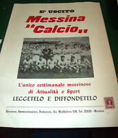 1964 locandina cartonata per le edicole E' USCITO MESSINA CALCIO - rarità