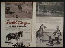 Gymkhana Field Day Events 1957 pictorial Horseback Riding Racing