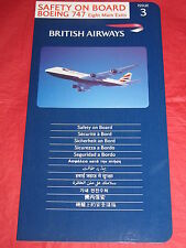 4th Issue 4 F619 Caledonian Airways 1990/'s DC-10 Safety On Board Card