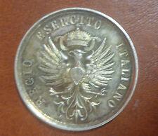 MEDAGLIA REGIO ESERCITO ITALIANO GARA DI SCHERMA ARGENTO UMBERTO I diametro 3 cm