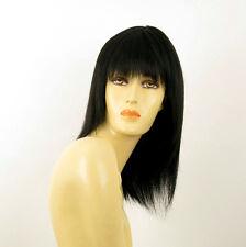 perruque femme 100% cheveux naturel noir ref KOKO 1b