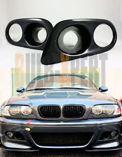 H CARBON FIBER FRONT BUMPER FOG LIGHT INTAKE AIR DUCT COVER FOR 01-06 BMW E46 M3