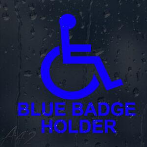 Wheelchair Blue Badge Holder Car Windscreen Body Panel Decal Vinyl Sticker