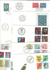 8 LETTRES FDC SUISSE ANNEE COMPLETE 1971