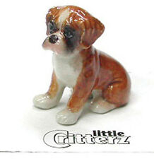 ➸ LITTLE CRITTERZ Dog Miniature Figurine Boxer Puppy Buddy