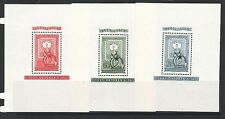 HUNGARY Sc C95,CB13-4 NH 3 SOUVENIR SHEETS OF 1951 - STAMPS-ON-STAMPS