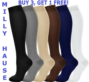 Compression Socks Pain Relief (S-XXXL) Calf Leg Foot Support 20-30mmHg Men/Women