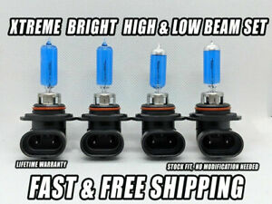 Xtreme White Headlight Bulbs For Chevy Corsica 1987-1996 High & Low Beam x4