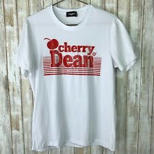 Dsquared2 Cherry Dean White Red Short Sleeve T-Shirt XXL 2XL Extra Large ITALY