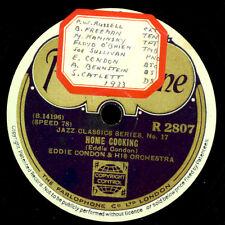 EDDIE CONDON & ORCH. Home Cooking / The Eel    Schellackplatte    78rpm X3315