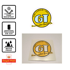GT Huntington Beach ca. Old School Sticker Logo GT Bikes BMX decal