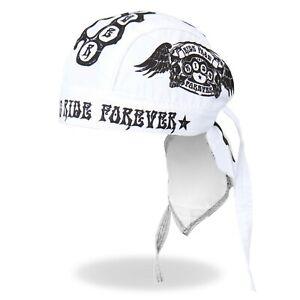 Ride Fast Ride Forever Tattoos Skulls Motorcycle Biker Bandana Headwrap HWH1045