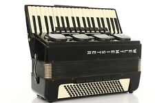 Accordion Weltmeister Stella 120 Bass LMMH Akkordeon Fisarmonica Black + Case