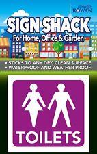 "UNISEX TOILETS 3"" Male and Female Toilet Door Sign Symbol WC Loo Pub Restroom"
