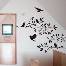 Black Birds Tree Branch Handcraft Wall Sticker Window Room Art Decal Home Decor