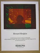 1981 Howard Hodgkin artist & model etching Petersburg Press vintage print Ad