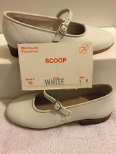 Kids Size 1M White Scoop Square Dance Shoes