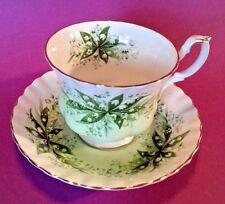 Royal Albert Pedestal Tea Cup And Saucer - Melody Series Concerto Lily Of Valley