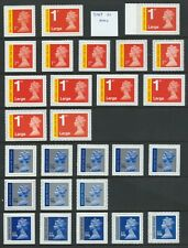 More details for u3045 (signed for) to u3052 (special delivery) un/mint self adhesive nvi's