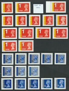 U3045 (SIGNED FOR) TO U3052 (SPECIAL DELIVERY) UN/MINT SELF ADHESIVE NVI's