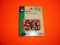 Mark Locations on Maps Dritz 100 Count Map Pins Stainless Steel Size 15mm