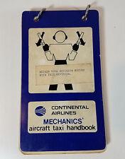 Vintage Continental Airlines Mechanics' Aircraft Taxi Handbook 1979 Aviation