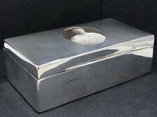 More details for sterling silver & enamel cigarette box birmingham 1908