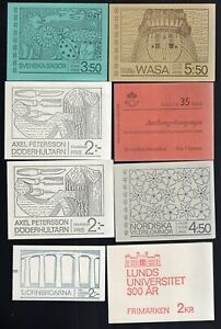 Sweden 1966-70's, 20 Booklets, 10 Different 18 are MNH, 2 are CTO