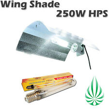 250W HPS Light With Aluminum Adjustable Wing Shade Reflector Hydroponics