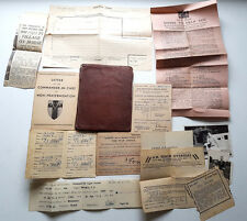 WW2 Issued Army Pay Book Royal Artillery Gunner Plus Forms Photos Reenactment