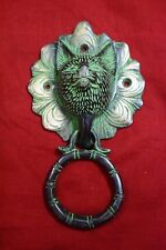 Antique Brass Chines Cat Face Door Knocker Door Entry Good Luck Face Cat BM666