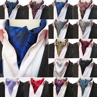 Men's Paisley Floral Cravat Ascot Scarves Wedding Party Formal Neckties Tie