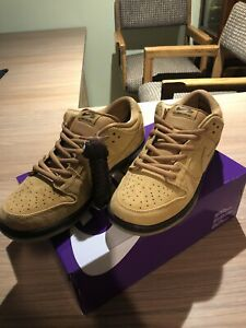 """Nike Sb Dunk Low Wheat """"Flax"""" Size 11 In Hand Ready To Ship"""