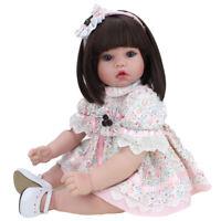 22'' Reborn Girl Doll Gift Newborn Baby Dolls Toddler Wigs Toys Vinyl Silicone